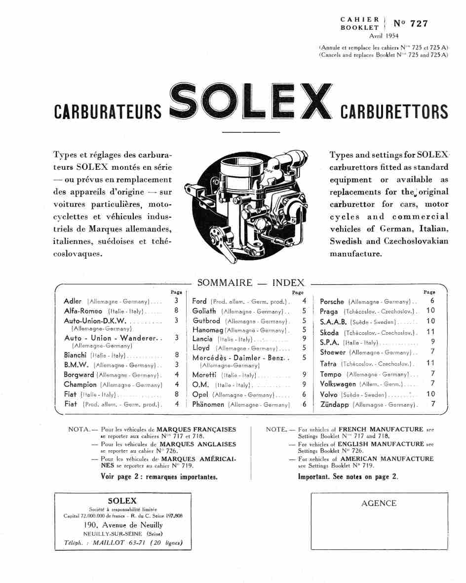fiche technique carburateur solex 28 ibt